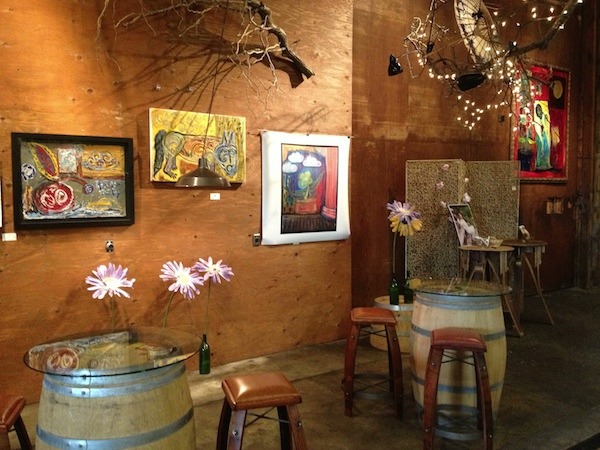 Artwork created by Eric Dunham is displayed at Dunham Cellars during the spring of 2013 in Walla Walla, Wash. Dunham died Oct. 23, 2014.
