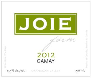 joiefarm-gamay-2012-label