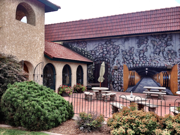 Latah Creek Wine Cellars in Spokane, Wash., offers a courtyard and sanctuary just a stone's throw away from Interstate 90.
