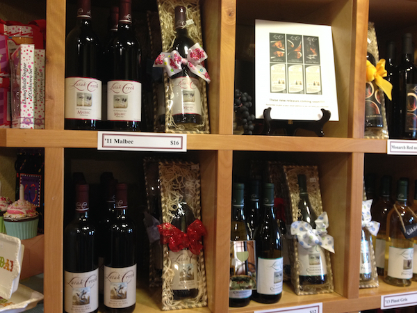 Merchandise account for 20 percent of sales at Latah Creek Wine Cellars in Spokane, Wash.
