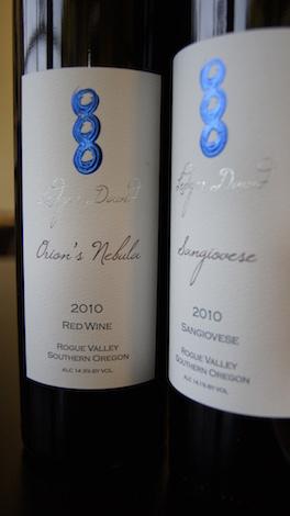 Ledger David Cellars wine bottles