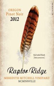 raptor-ridge-winery-meredith-mitchell-Vineyard-pinot-noir-2012-Label