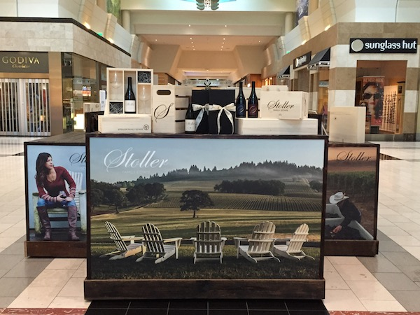 Stoller Family Estate in Dayton, Ore., uses its new kiosk to bring a sense of the Dundee Hills to Washington Square shoppers.