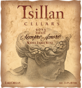 Tsillan Cellars 2013 Estate Sempre Amore label