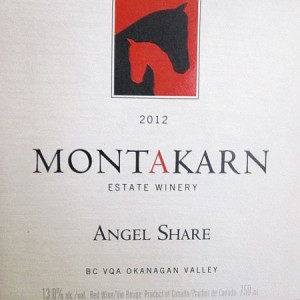 Montakarn Estate Winery-Angel Share-Okanagan Valley-2012-Label