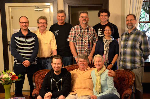 Judges for the 2014 British Columbia Wine Awards were from, left to right standing, Darren Oleksyn, David Lawrason, Sid Cross, Martin Lewis, Troy Townsin, Stephanie Yuen and Kansas City author Doug Frost MW. Seated from left to right: Kurtis Kolt, Tim Pawsey and DJ Kearney.