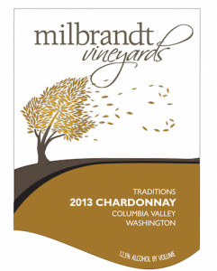 Milbrandt Vineyards 2013 Traditions Chardonnay label
