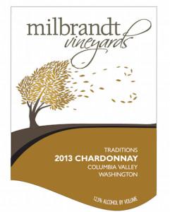Milbrandt Vineyards 2013 Traditions Chardonnay label