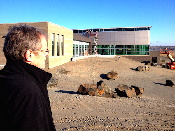 Thomas Henick-Kling oversees construction of Washington State University's Wine Science Center on Tuesday, Dec. 2, 2014 in Richland, Wash.