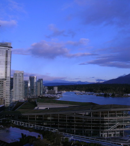 The Vancouver Convention Center overlooks Coal Harbour in Vancouver, British Columbia. (Photo by Traci Degerman/Great Northwest Wine)