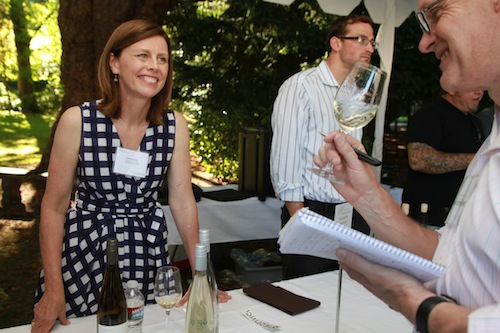 Wendy Stuckey pours at the 2013 Riesling Rendezvous.