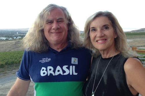 Washington winemaker Chris Upchurch and his wife, Thea.