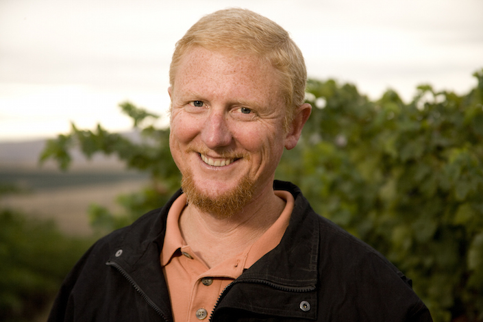 Kevin Corliss, shown here in Cold Creek Vineyard, serves as vice-president of vineyards for Ste. Michelle Wine Estates.