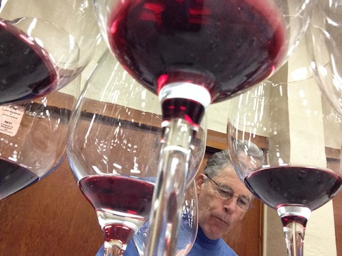 Mike Dunne evaluates wines at the San Francisco Chronicle Wine Competition.