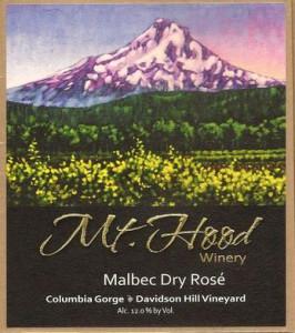 Mt. Hood Winery NV Malbec rose