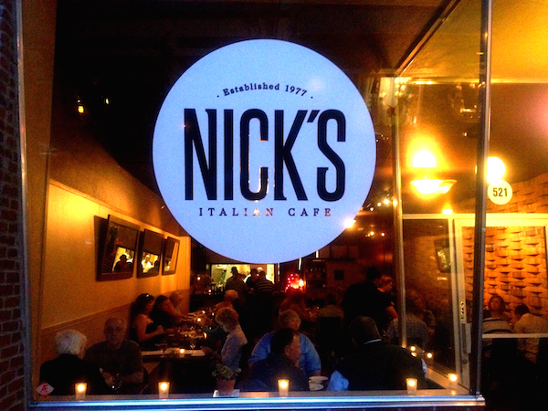 Nick's Italian Cafe in McMinnville, founded by Nick Peirano, continues to be one of the restaurants most supportive of Oregon wine.