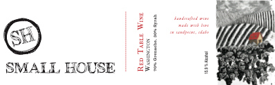 Small House Winery Red Table Wine label