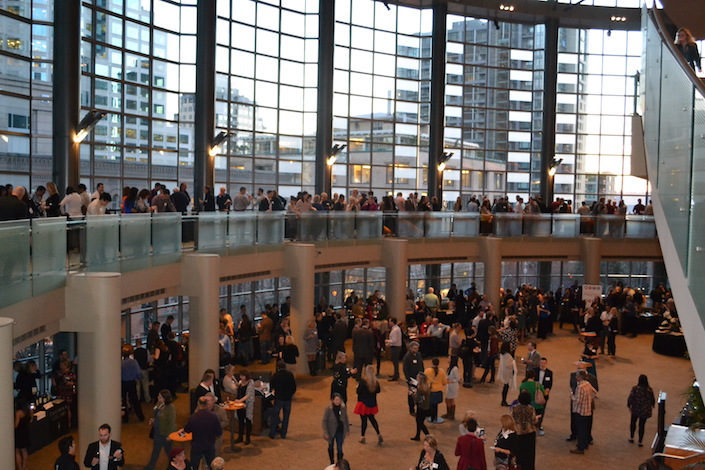 The 13th annual Washington State Wine Awards were staged Jan. 27, 2015 in the Samuel and Althea Stroum Grand Lobby at Benaroya Hall in Seattle.
