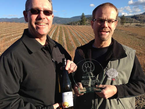 Wild Goose Vineyards' 2012 God's Mountain Vineyard Riesling won best of show at the Great Northwest Invitational Wine Competition.