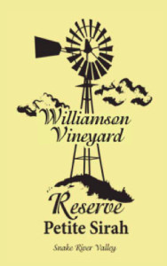 williamson-vineyard-reserve-petite-sirah-nv-label