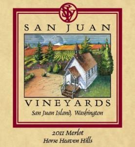 San Juan Vineyards-Merlot-Horse Heaven Hills-2011-Label