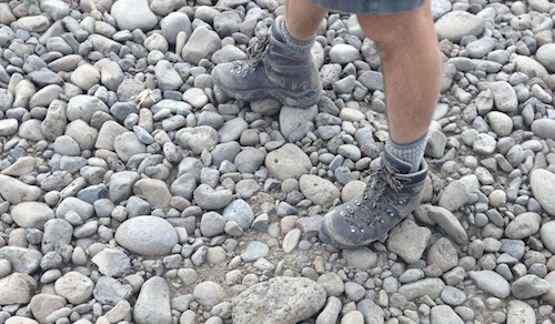 Christophe Baron stands amid his cobbles at The Rocks District of Milton-Freewater American Viticultural Area.
