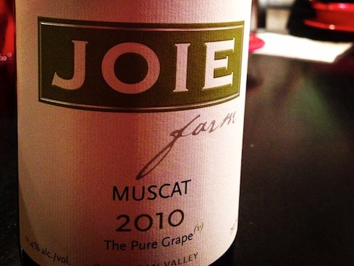 JoieFarm produces a dry Muscat.