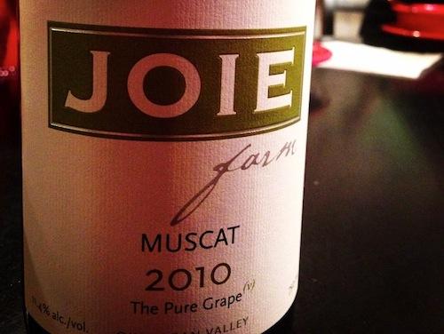 JoieFarm produces a dry Muscat.