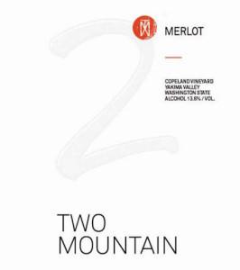 Two Mountain Winery Copeland Vineyard Merlot label