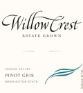 willow crest estate pinot gris nv label 120x134 - Willow Crest Estate Winery 2016 Pinot Gris, Yakima Valley, $15