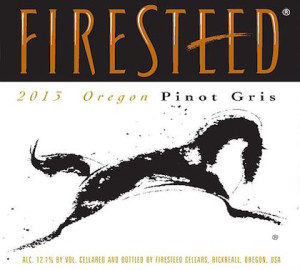 Firesteed 2013 Pinot Gris label