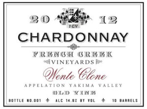 French-Creek-Vineyards-Wente-Clone-Old-Vine-Chardonnay-2012-Label