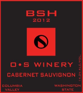O•S Winery-BSH Cabernet Sauvignon-Columbia Valley-2012-Label