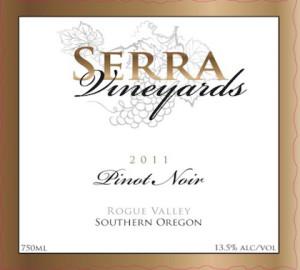 Serra Vineyard-Pinot Noir-2011-Label