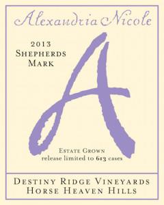 Alexandria Nicole Cellars 2013 Shepherd's Mark label