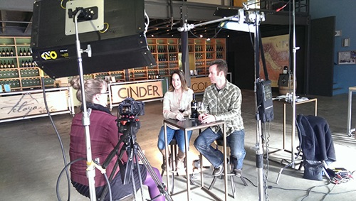 Melanie Krause and Joe Schnerr of Cinder Wines participate in Idaho Wine.