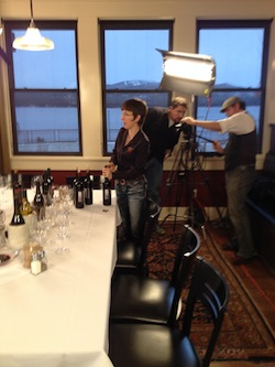 Coco Umiker takes part in the Idaho Wine documentary.
