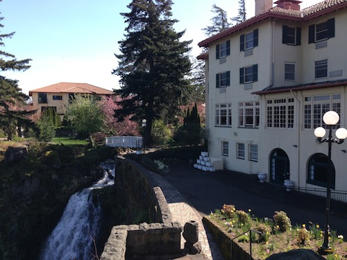 The Great Northwest Wine Competition takes place at the Columbia Gorge Hotel in Hood River, Oregon.