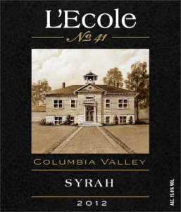 L'Ecole No. 41 2012 Syrah label