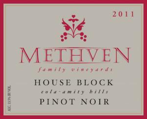 Methven Family Vineyards 2011 House Block Pinot Noir label