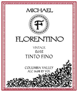 Michael Florentino Cellars 2012 Tinto Fino label
