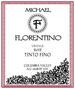 Michael Florentino Cellars 2012 Tinto Fino label
