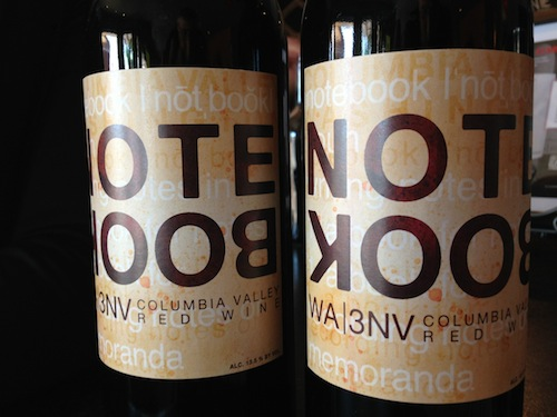 J. Bookwalter Winery makes Notebook wines.