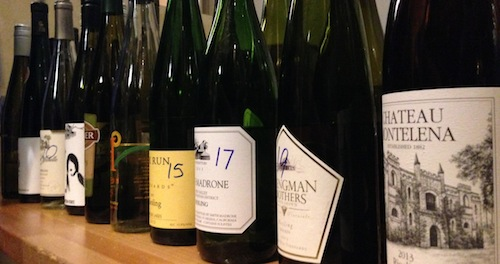 Judgment of Geyserville tastes North American Riesling