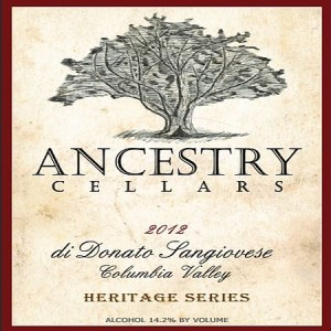 Ancestry Cellars-di Donato Sangiovese-Columbia Valley-2012-Label