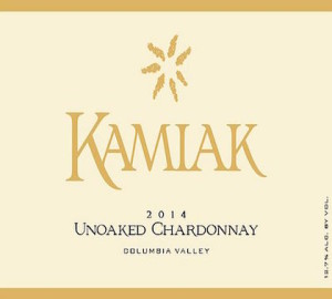 Kamiak 2014 Unoaked Chardonnay label
