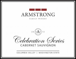 Armstrong Family Winery 2012 Celebration Series Cabernet Sauvignon label