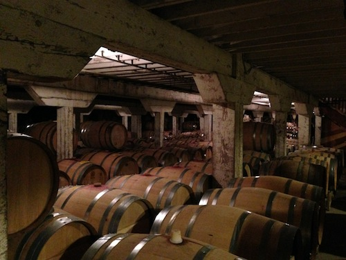 Barrister Winery in downtown Spokane has an underground barrel room.