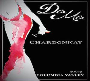 DaMa Wines 2012 Chardonnay label