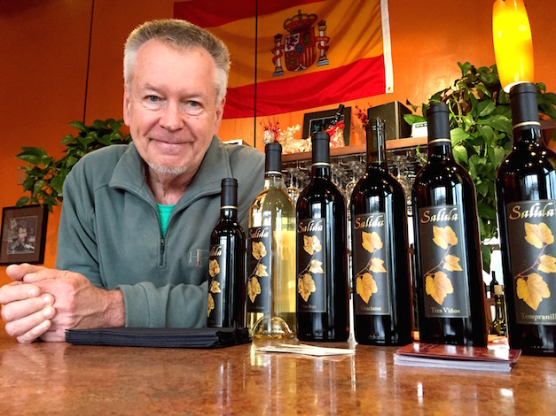 Longtime Washington winemaker Doug McCrea offers several Spanish-inspired wines at his Salida Wine Bar in Yelm, Wash.